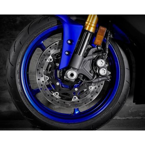 320mm diameter YZF-R1 type front brakes